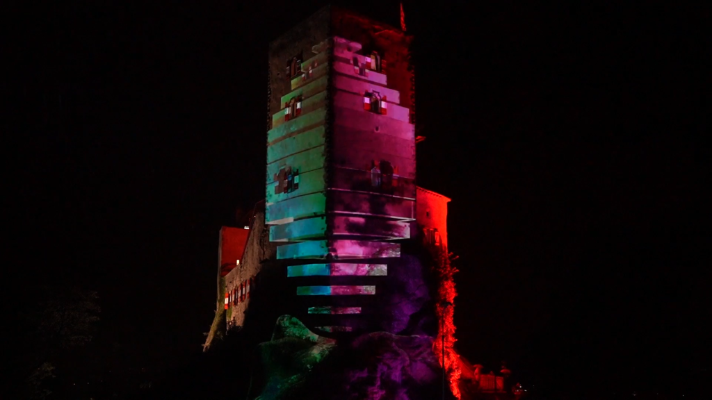 Projection Mapping Burg