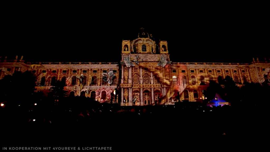 Gebäudeprojektion Wien Architectural Video Mapping
