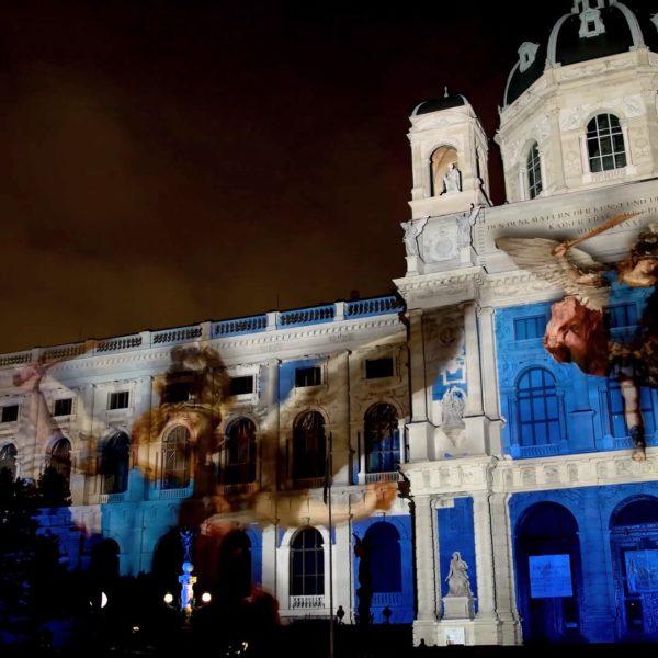 Gebäudeprojektion Wien 3D Video Mapping