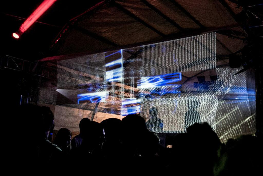 Visuals Foto von Valentin Backhaus Festival Bühne